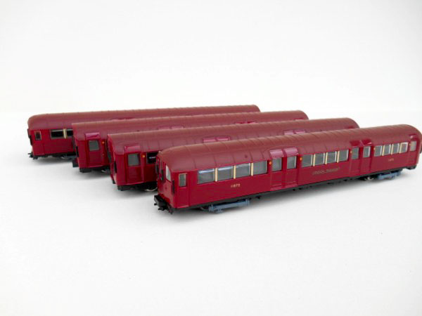 London Underground Metro Cammell 1938 Stock red with brown roof